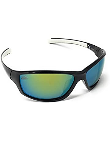 70da8fde085 LAGO TERRA Men s Sportive Polarized Mirror Lens Sunglasses - Black White