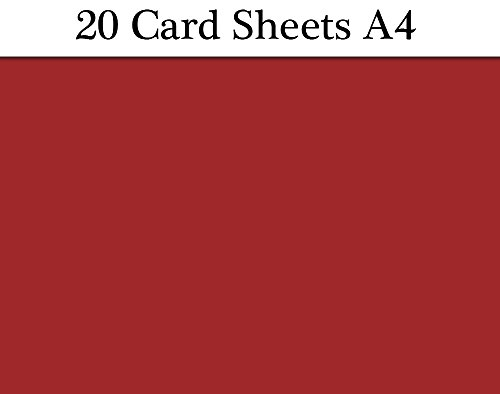 Stock Bordeaux - 20 Bordeaux Red Wine A4 Card Sheets for Crafts | Coloured Card for Crafts