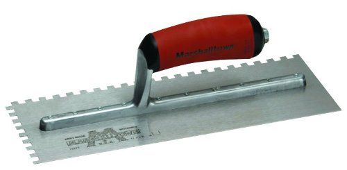 MARSHALLTOWN The Premier Line 776SD 11-Inch by 4-1/2-Inch Notched Trowel with Curved DuraSoft Handle