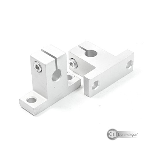 3D Innovations Sk8 8mm Bore Linear Rail Shaft Optical Axis Clamping Guide End Support For Xyz Axis (Quantity: 2 Pcs)