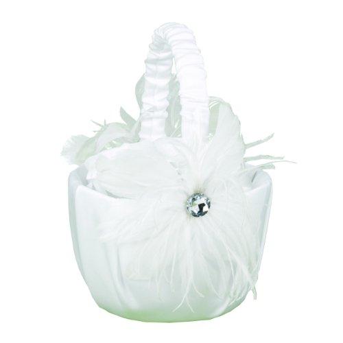 Hortense B. Hewitt Wedding Accessories Feathered Flair Flower Girl Basket