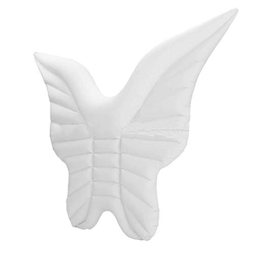 Inflatable Pool Float Swimming Toy Butterfly Wings Floating Row PVC Angel Wing Floating Bed Loungers Raft Summer Water Sport Beach Party Raft Tube Floats for Adults Kids 98.4x70.9 Inches,White