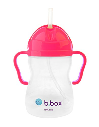 b.box straw Sippy Cup - Pink Pomegranate - Neon Edition - 8 oz