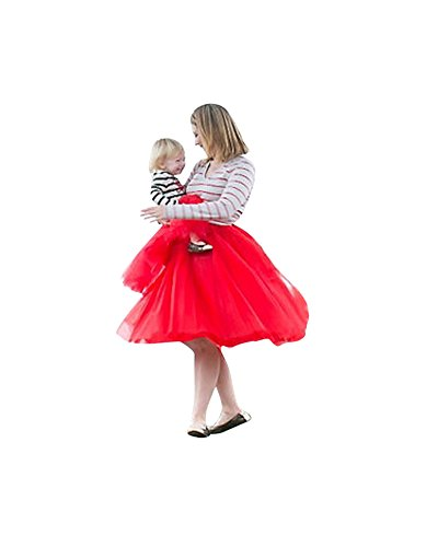 Dtachable Tulle Femme Ceinture Rouge Style En Jupon Rtro Jupe 7 Couches XSzqwSaZx