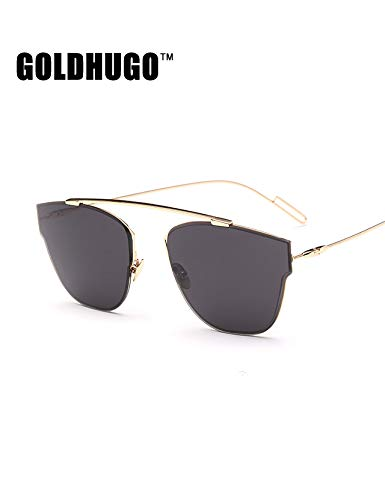 Pol Gray Sunglasses - sunglasses sunglasses women girls thin style round face glasses tide star reflective pol home dress up colorful metal sunglasses (gold-framed black and gray pieces