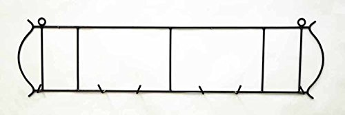 Laredo Horizontal Triple Wall Plate Holder, 42.5 Inches Wide x 11 Inches High. Holds 3-10 Inch Plates. Bronze Color