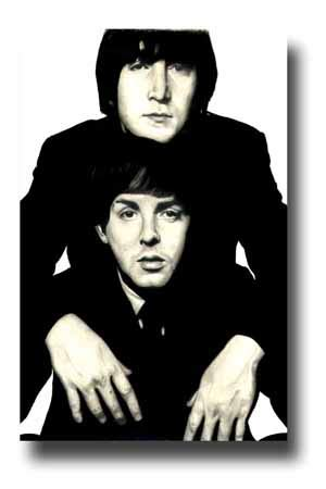 The Beatles Poster Publicity Promo 11 x 17 inches John Lennon and Paul McCartney