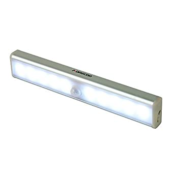 Morecoo - Lámpara led con detector de movimiento para jardín, garaje, camino, pared exterior, etc., luz diurna, PIRLED10: Amazon.es: Hogar