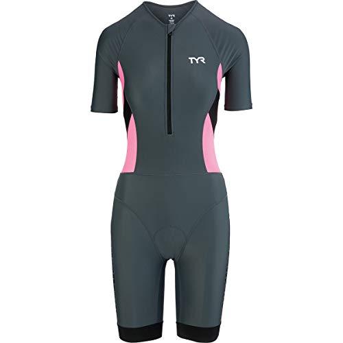 (TYR Competitor Speedsuit - Women's Grey/Coral, XL)