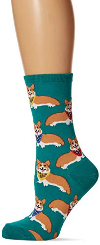 (Socksmith Women's Corgi Socks in EmeraldONE SIZE FITS ALL)
