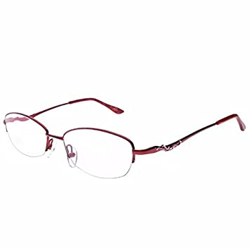895ac59d3ca1 Jcerki Ladies  Women Metal Red Half-Frame Reading Glasses 4.25 Strengths  Women fashion Readers