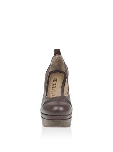 Cubanas Natur840 Damen Zapatos de tacón Chestnut