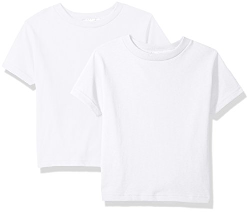 - Clementine Unisex Baby Boy Everyday Short Sleeve Toddler T-Shirts Crew 2-Pack, White, 4T
