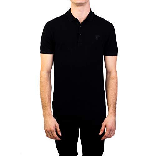 826bb072 Versace Collection Mens Cotton Pique Baroque Collar Polo Shirt White  V543S-VJ68-7001 Clothing