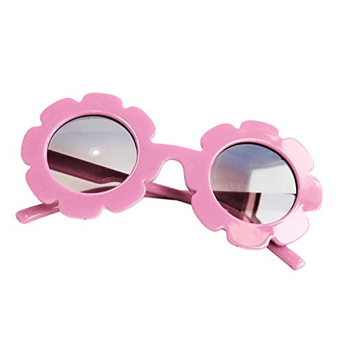 Tracfy Stylish Round Flower Sunglasses Anti-UV Party Photography Outdoor Beach Colorful Eyewear for Unisex Baby Kids -