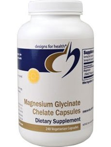Designs for Health Magnesium Glycinate Chelate Capsules, 240 Count, Health Care Stuffs