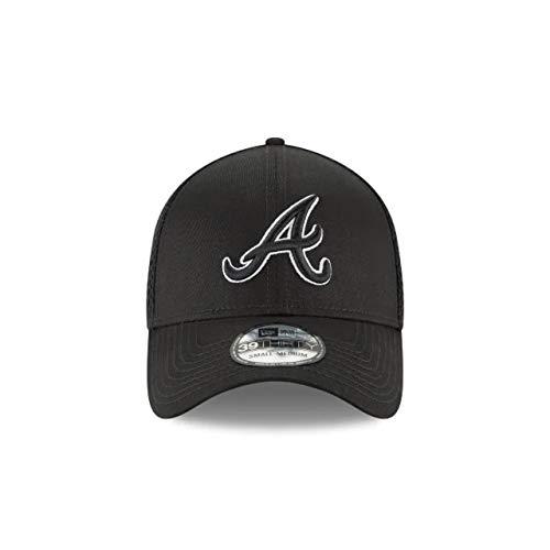 New Era Authentic Atlanta Braves Black Neo 39THIRTY Flex Hat (Small/Medium) -