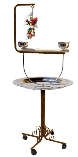 PARROT BIRD METAL PLAYSTAND PP_B72T toy cage cages toys gym african grey conure (COPPERTONE) by King's Cages