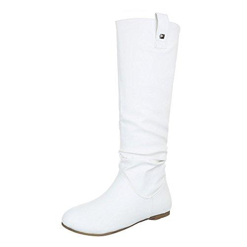 Sintético Weiß Design Ital mujer para Material Botas de B66qIf