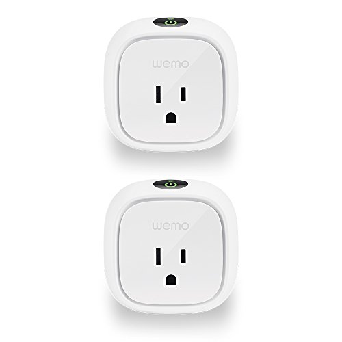 Wemo Insight Smart Plug 2-pack, Control Your Lights and Manage Energy Costs From Anywhere, No Hub Required. Works with Amazon Alexa and the Google Assistant (F7C029-BDL)
