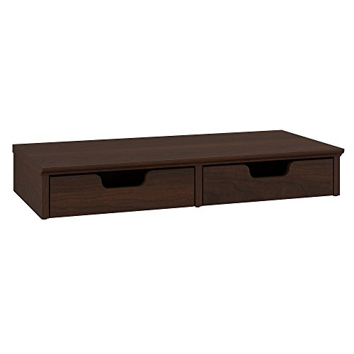 Bush Furniture Key West Desktop Organizer with Drawers in Bing Cherry by Bush Furniture