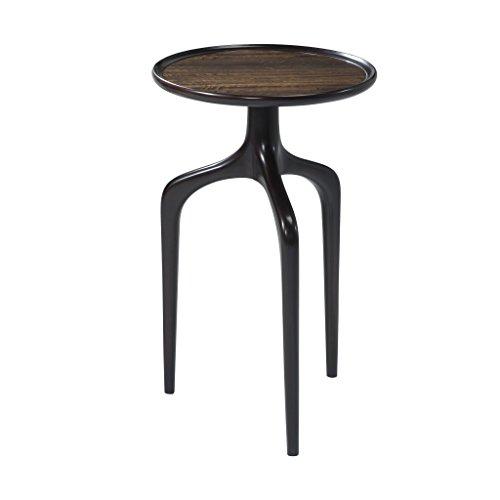 English Mahogany Side Table - Mid Century Ebony Veneered Side Table