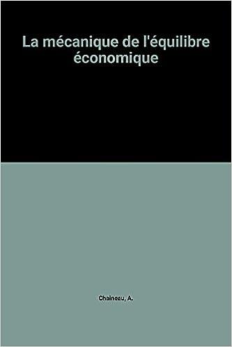 Livre La mécanique de l'équilibre économique epub, pdf