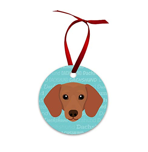 Mystic Sloth Adorable Dog Breed Specific Double Sided Christmas Holiday Ornament (Dachshund)