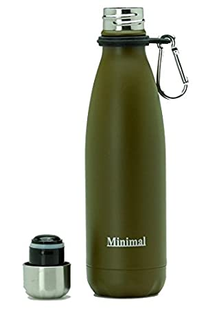 Minimal Stainless Steel Double Wall Insulated Water Bottle