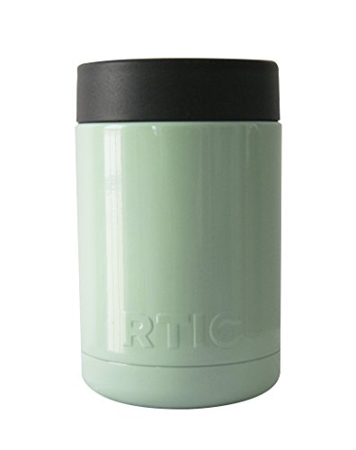 RTIC Custom Powder Coated Stainless Steel Insulated Can Colster Cup Mug Tumbler Beer Bottle - Keeps drinks COLD (12oz, Mint Green)