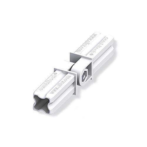 blanc 2 branches 23.5mm carr/ées Connecteur articul/é pour tube PVC//alu