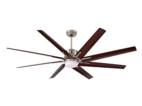 (Emerson CF985LBS Aira Eco 72-inch Modern Ceiling Fan, 8-Blade Ceiling Fan with LED Lighting and 6-Speed Wall Control)