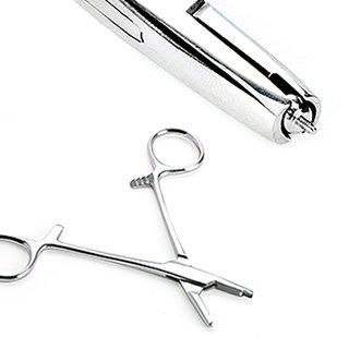 Dermal Anchor Tube Hemostat Forceps for Dermal Tops - Pierced Owl (3mm dermal top forceps)