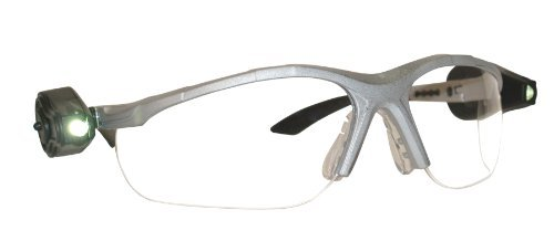 3M Light Vision 2 Protective Eyewear, 11476-00000-10 Clear Anti-Fog Lens, Gray Frame, Lights (Pack of 1)