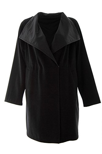 Reversible Silk Coat (Marina Rinaldi Women's Teoria Reversible Wool Blend Coat 20W/29 Black)