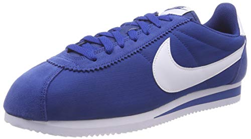 Nike Chaussures De Sport En Nylon Herren Cortez Classique, Mehrfarbig (gymnase Bleu / Blanc 001)