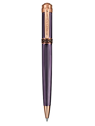 (Versace - Astrea - Fine Writing Instrument Ball Point Pen - IP Rose Gold / Brown - VR7030014)