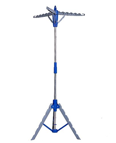 Mewalker Tripod Garment Clothes Drying Rack, Collapsible Foldable Clothes Dryer Hanger Portable Drying Laundry Indoor Display Tree Rack Stand (US STOCK)