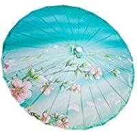 GODHL Flor de durazno de bambú paraguas Oriental