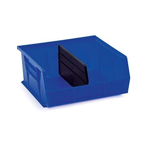 AkroBin 30235 Blue Stack & Hang Bins 10-7/8 x 11 x 5 Bundle with Length Dividers