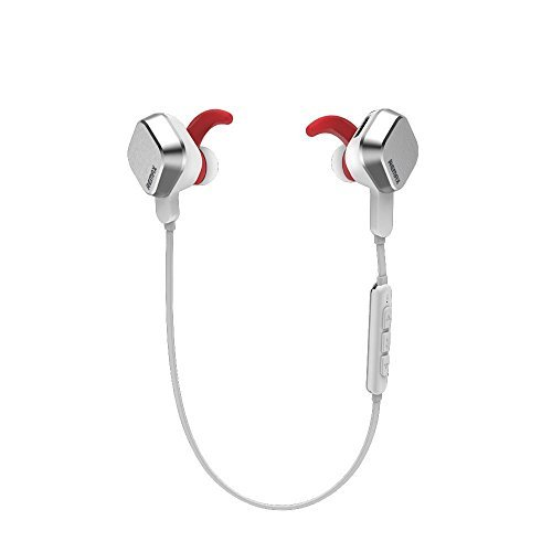 REMAX RM-S2 New Arrival Sports Magnet Wireless Bluetooth Headset Can Answer Phone Stereo Headphone Mic Handsfree Music Earphones Noise Cancelling (White)