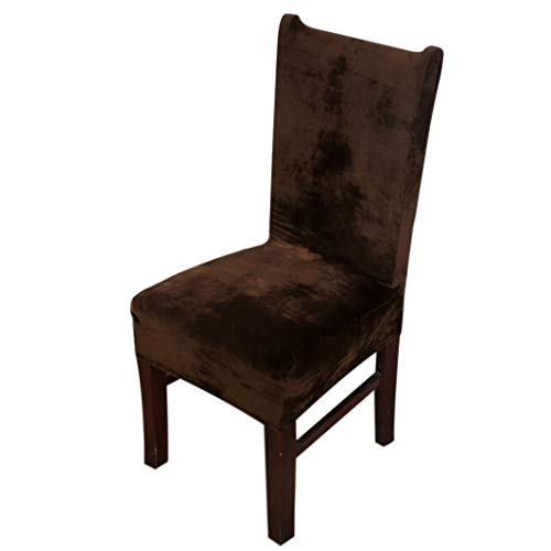 - ROGEWIN Chair Cover Party Dining Slipcover Weddings Home BanquetVelvet Removable Stretch Protector Iron-Free Seat