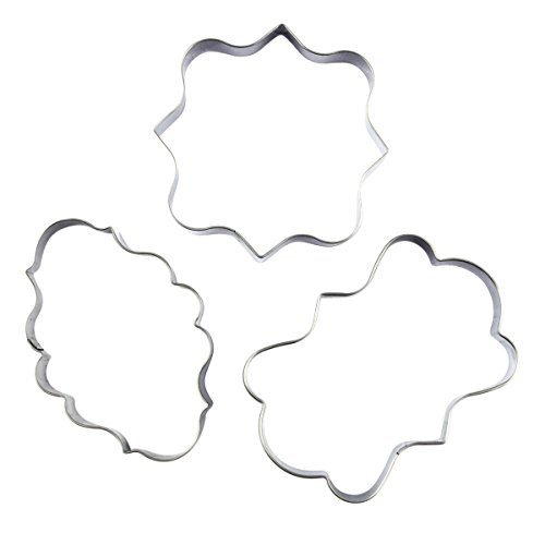 - Plaque Frame Cookie Cutter 3Pcs/Set, KOOTIPS Square Frame Plaque Fancy Oval Stainless Steel Cookie Cutter