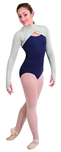 Body Wrappers Convertible Mock Neck Long Sleeve Shrug (4550) -Black -
