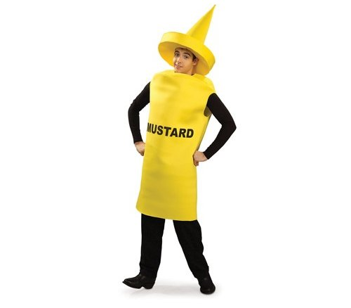 Halloween Mustard Costume (Rubie's Costume Co. Men's Mustard Bottle Costume, As Shown, One Size)