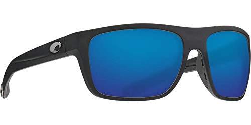 Costa Del Mar - Broadbill - Matte Black Frame-Blue Mirror 580 Glass Polarized Lenses