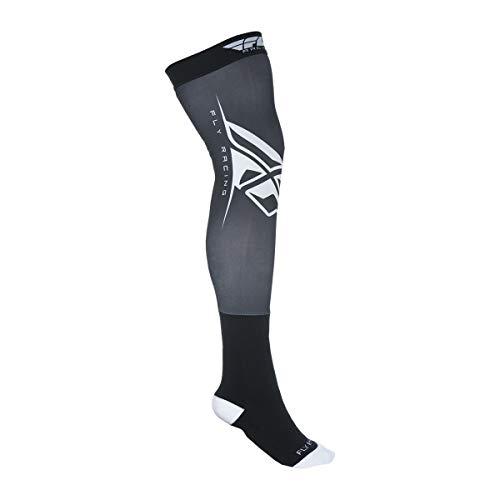 (Fly Racing Unisex-Adult Knee Brace Socks Black/White Small/Medium)
