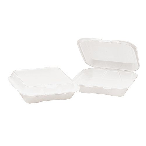 Genpak SN220 Snap-It Foam Hinged Container, Small, 1-Comp...