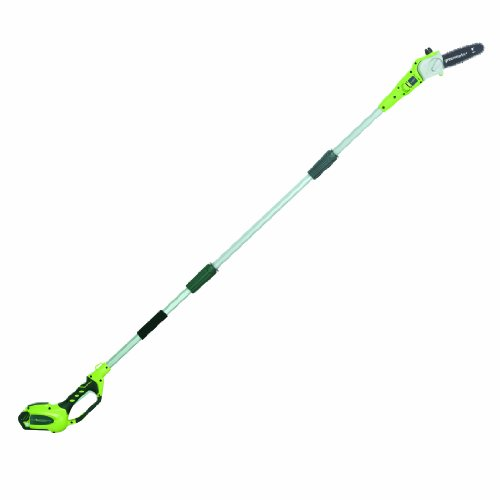Greenworks 8.5' 40V Cordless Pole Saw, 2.0 AH Battery Included - Chainsaw Power Manual