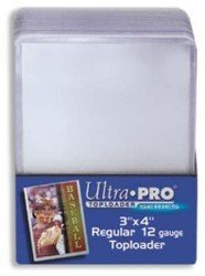Ultra Pro 3x4 Top Loaders 100 ct Plus 100 Free Card Sleeve Promo Pack (1 Pack) by Ultra Pro